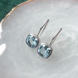 18k witgouden oorhangers met edelstenen
