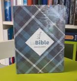 Bible du Semeur 2015, couverture textile, semi-souple bleue, tissu carreaux