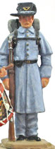 ACW S-21 Federal Infantryman in overcoat at attention
