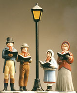 LIT-200 Victorian Carolers & Lampost