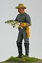 ACW C-234 Cavalry Officer with map