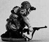 MOD S-168 crouching with binoculars