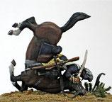 REV 72-17 Trooper sword drawn on falling horse