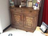 beau meuble bois blanc 2 portes, 2 tiroirs dim 1,20m X 0,90m X 0,50m