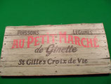 """cadre bois """"au petit marché"""""""