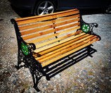 4ft OAK Design Garden Bench