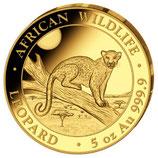 Somalia Leopard 2021 Gold 5 Unzen PP