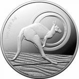 1 AUD Känguru 2021 Silber UN