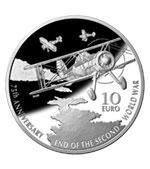 10 Euro II Weltkrieg 2020 Silber PP