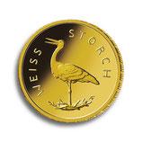 5 x BRD 20 Euro Gold 2020 Weißstorch Satz