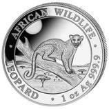 100  x Leopard 2021 Silber 1 Unze