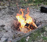vuur maken en brood bakken