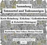 Sammlung Totenzettel/Todesanzeigen aus dem Kreis Heinsberg, Erkelenz, Geilenkirchen u. Eichsfeld (Thüringen)