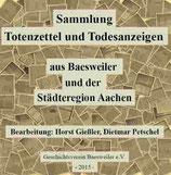 Sammlung Totenzettel/Todesanzeigen aus Baesweiler u. d. Städteregion Aachen