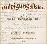 Huldigungslisten aus dem Herzogtum Jülich aus 126 Orten