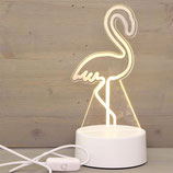 Flamant rose led 19x10 cm