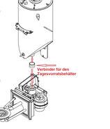 Verbinder für den Tagesvorratsbehälter - Pellematic