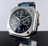 Bell & Ross Instruments Br 05 Chrono Blue Men's Watch BR05C-BU-ST/SRB