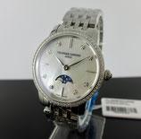 Frederique Constant Slimline Ladies Moonphase Diamond FC-206MPWD1SD6B
