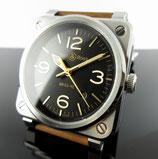 Bell & Ross 03-92 Golden Heritage Men's Watch 42mm BR0392-GH-ST/SCA