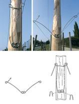 distanziatore palo legno