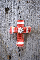 Beaded Bead Cross Top