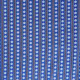 Stoff Baumwolle Dirndl blau weiss rot, ca. 1980s 3.80 m