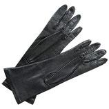 Handschuhe Leder schwarz gefüttert VINTAGE Gr. M