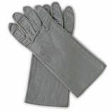Handschuhe Leder grau Seidenfutter VINTAGE Gr. M