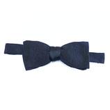 Fliege schwarz Seide bow tie zum Selberbinden VINTAGE