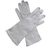 Handschuhe Leder hell offwhite VINTAGE 60s ungefüttert Gr. M