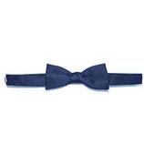 Fliege bow tie Seide dunkelblau schmal VINTAGE