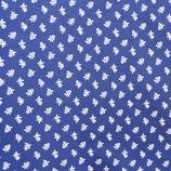 Stoff Baumwolle Dirndl Trachtenstoff blau-weiss 1 m