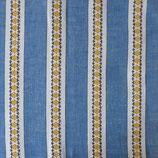 Stoff Baumwolle gewoben hellblau Bordüren 1.30 m