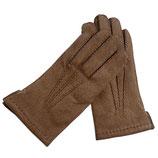 Handschuhe Leder braun gefüttert VINTAGE NOS Gr. S