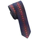 Krawatte VINTAGE Seide 60s marine-bordeaux