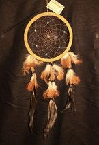 Traumfänger mit Holzperlen, 16cm Ø