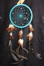 Traumfänger mit Edelsteinperlen, 22cm Ø