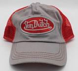 Von Dutch Truckercap Grau/Rot