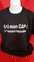"""Tee-shirt femme imprimé """"G U MON CAP C-T MISSION IMPOSSIBLE"""