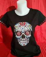 """Tee-shirt femme imprimé """"tête de mort mexicaine"""""""