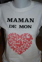 "Tee-shirt femme imprimé ""maman de mon coeur"""