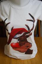 "Tee-shirt pas cher imprimé ""renne de Noël'"