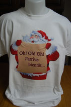 """tee-shirt imprimé """"Père Noel """""""