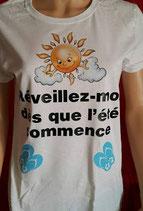 """Tee-shirt femme imprimé """"Réveillez moi dès que l'été commence"""""""