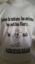 Tee-shirt humoristique agriculteur