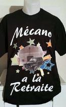"""Tee-shirt homme imprimé """"mécano à la retraite"""""""