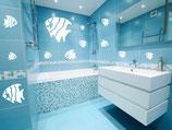 kit de sticker poissons pour salle de bain