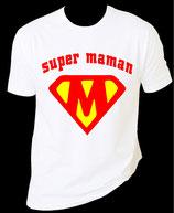 T shirt femme super maman