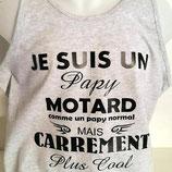 """Débardeur  imprimé """"papy motard"""""""